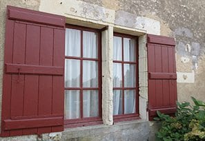Wooden Shutter French Windows