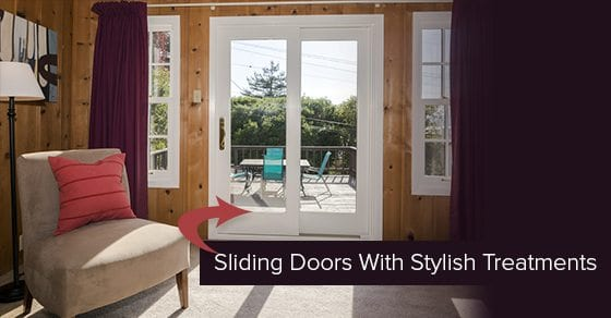 sliding doors with stylish treatments