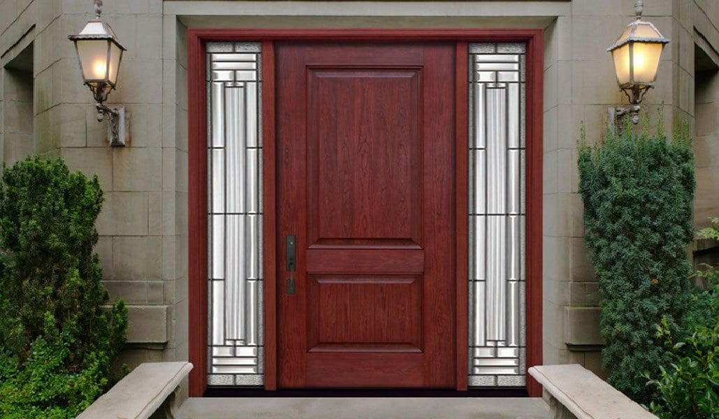 rustic woodgrain lites entry toronto solid windows side doors by door with front fiberglass single and richmondhill in installed