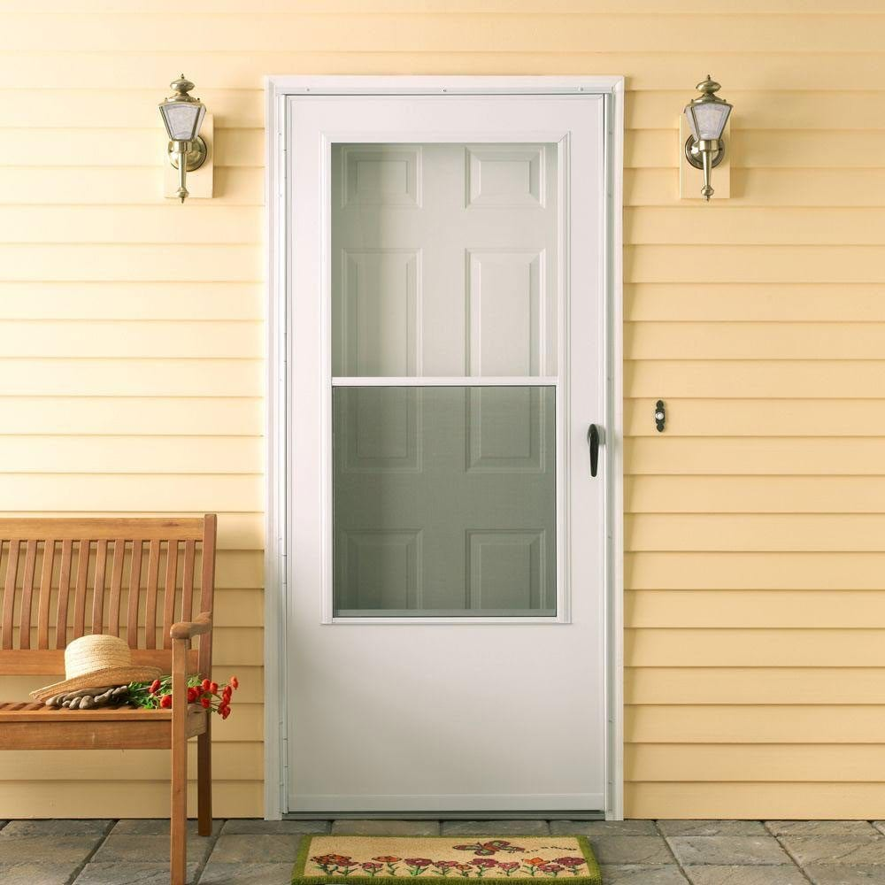 Home Depot Storm Door Installation Energy Efficient Storm