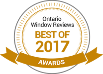 Winner of Ontario Window Reviews Best Window and Door Company for 2017