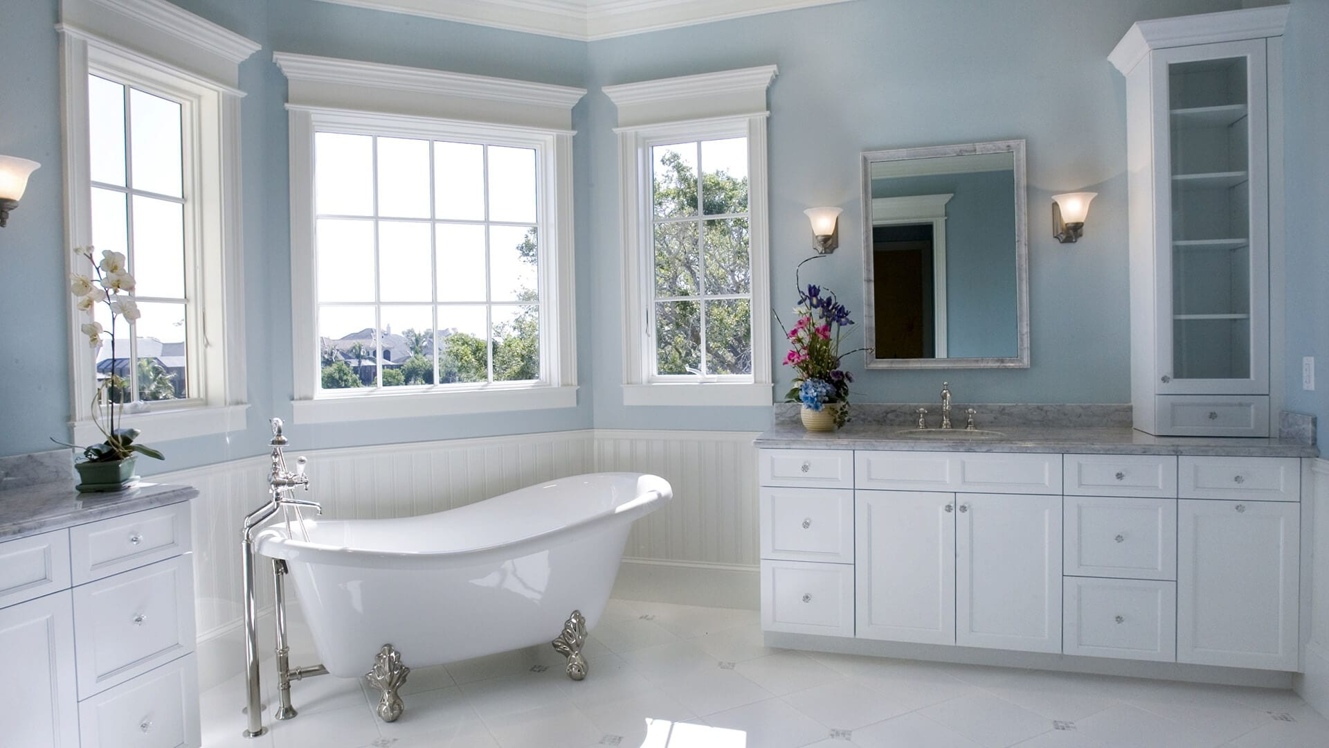 wash room and windows