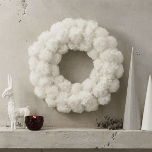 Pom Pom Snowball Wreath