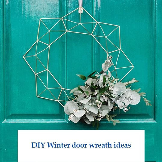 DIY Winter door wreath ideas