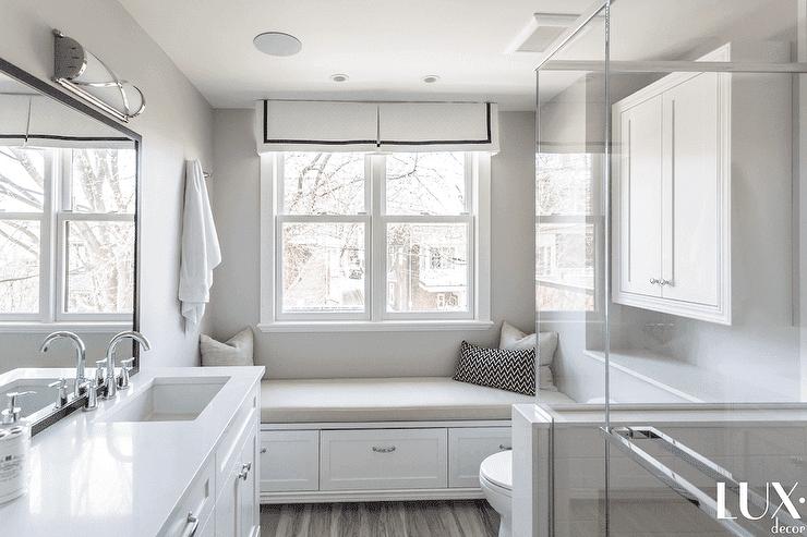 Single hung windows with window seat