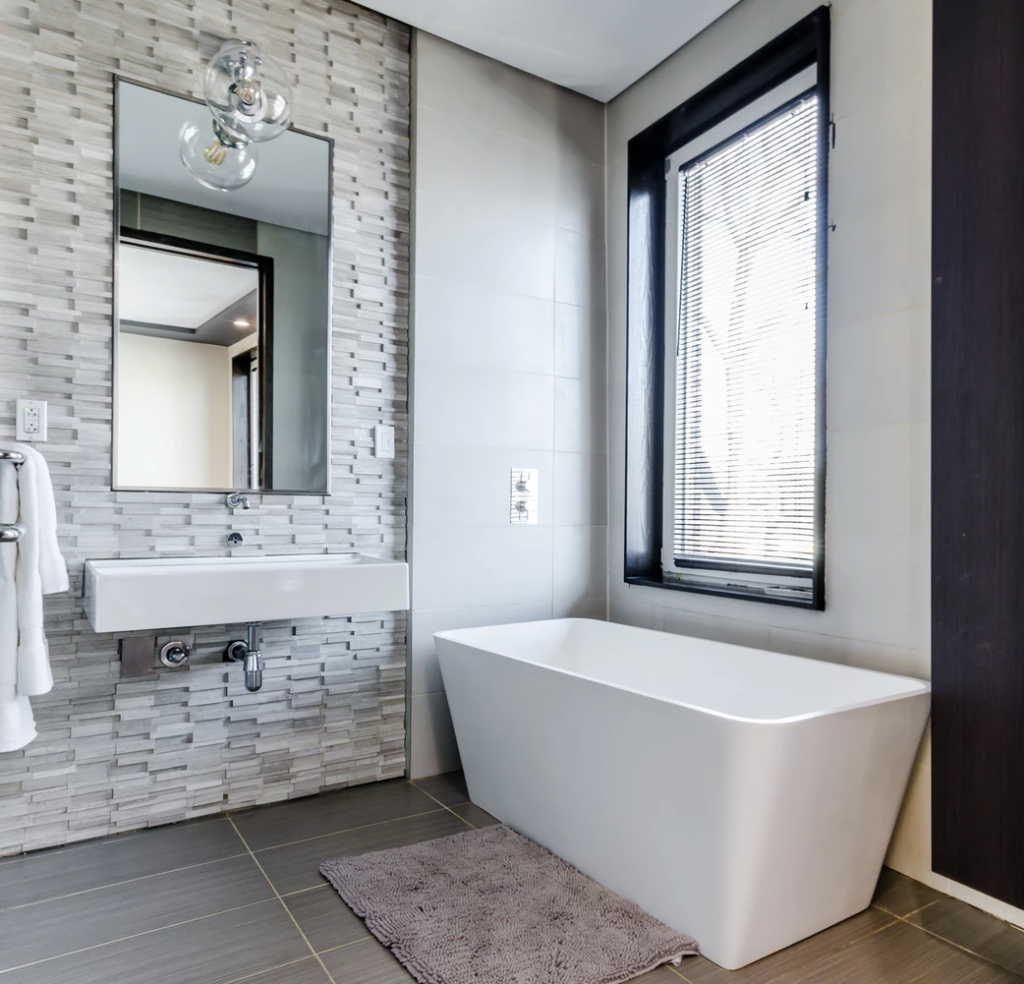 Example of a renovated bathroom for a vacation rental property