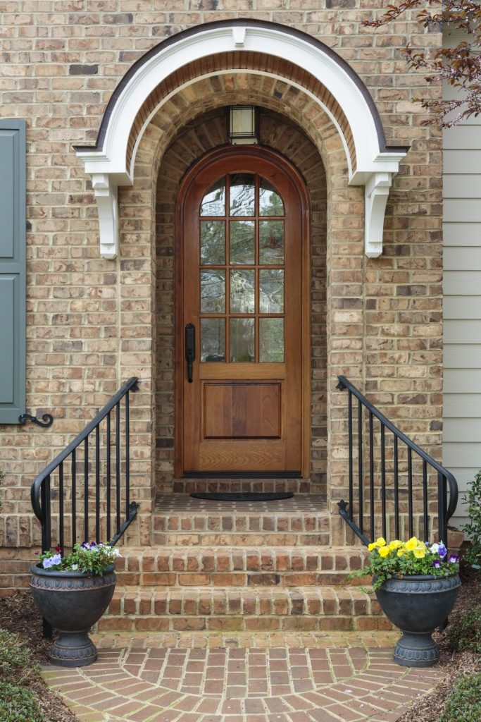 Arched door style on toronto home