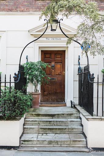 Rustic style door on home