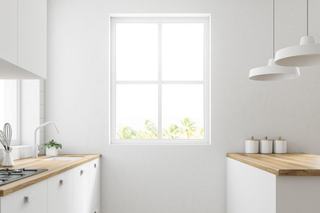 Bright and sunny kitchen with a replacement window