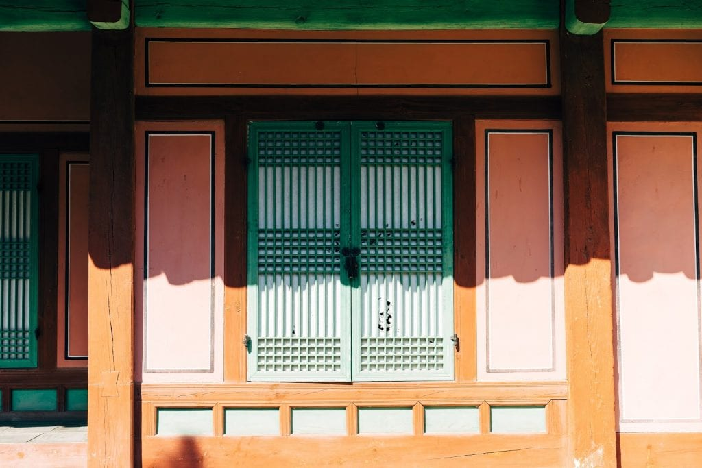 Close up of a window in South Korea