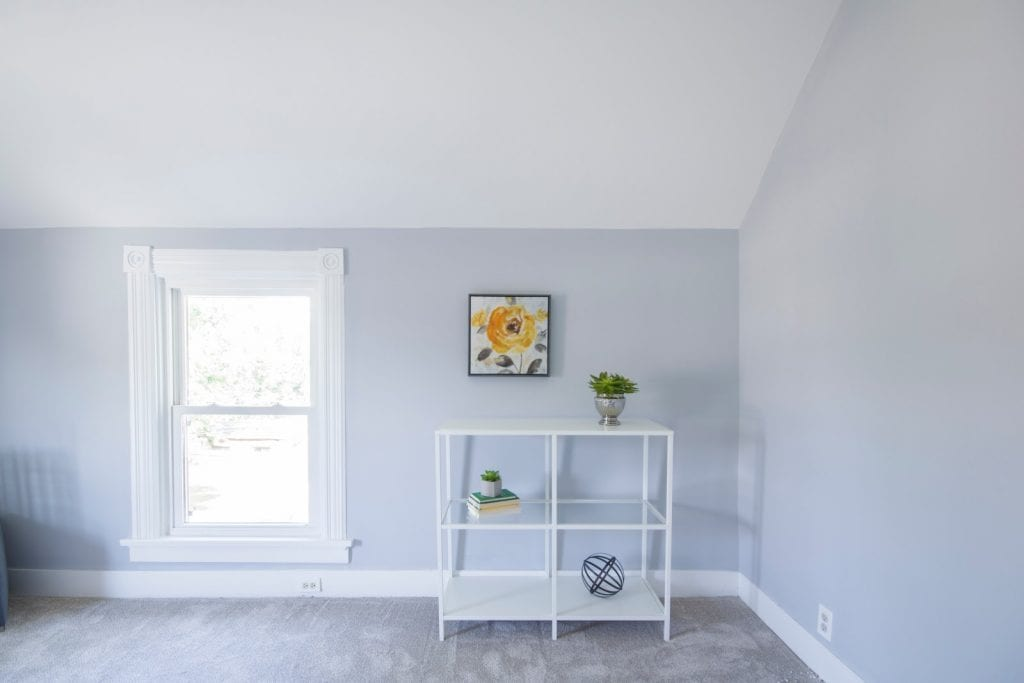 Home interior with vinyl window