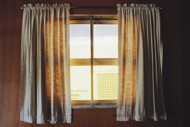 Windows with curtain
