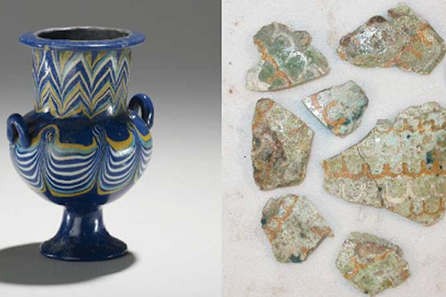 Glass products from Egypt and Mesopotamia