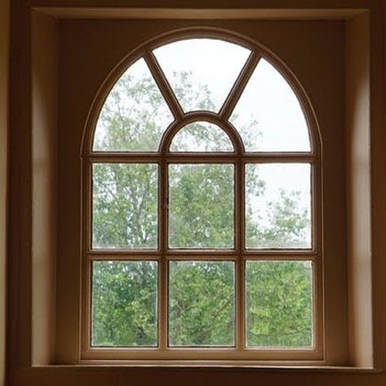 Old window with an arched shape