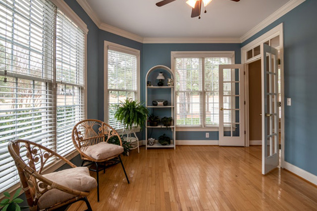 French doors used as an interior door