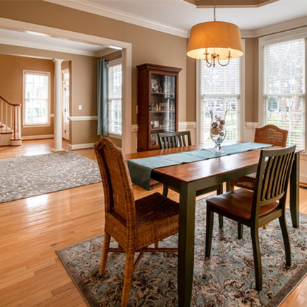 Home with large double-hung windows