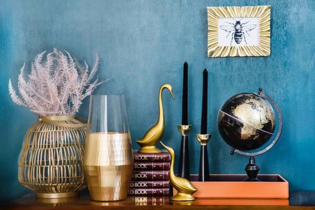 Golden home decors