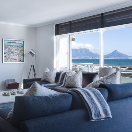 A customized window that allows for a good view of the mountains from the living room