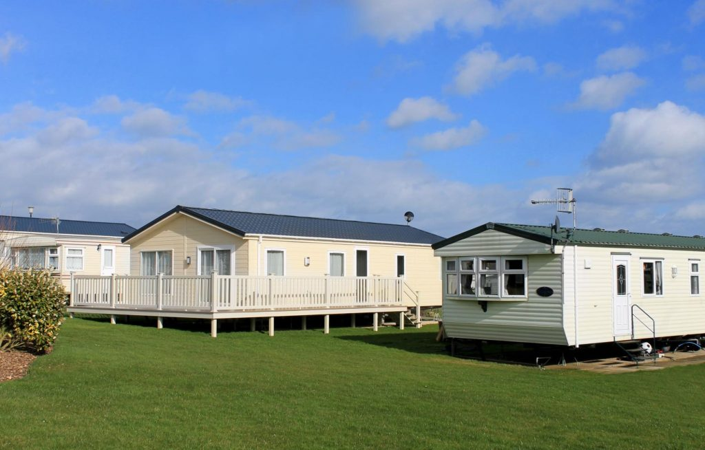 Different styles of mobile home replacement windows on mobile homes